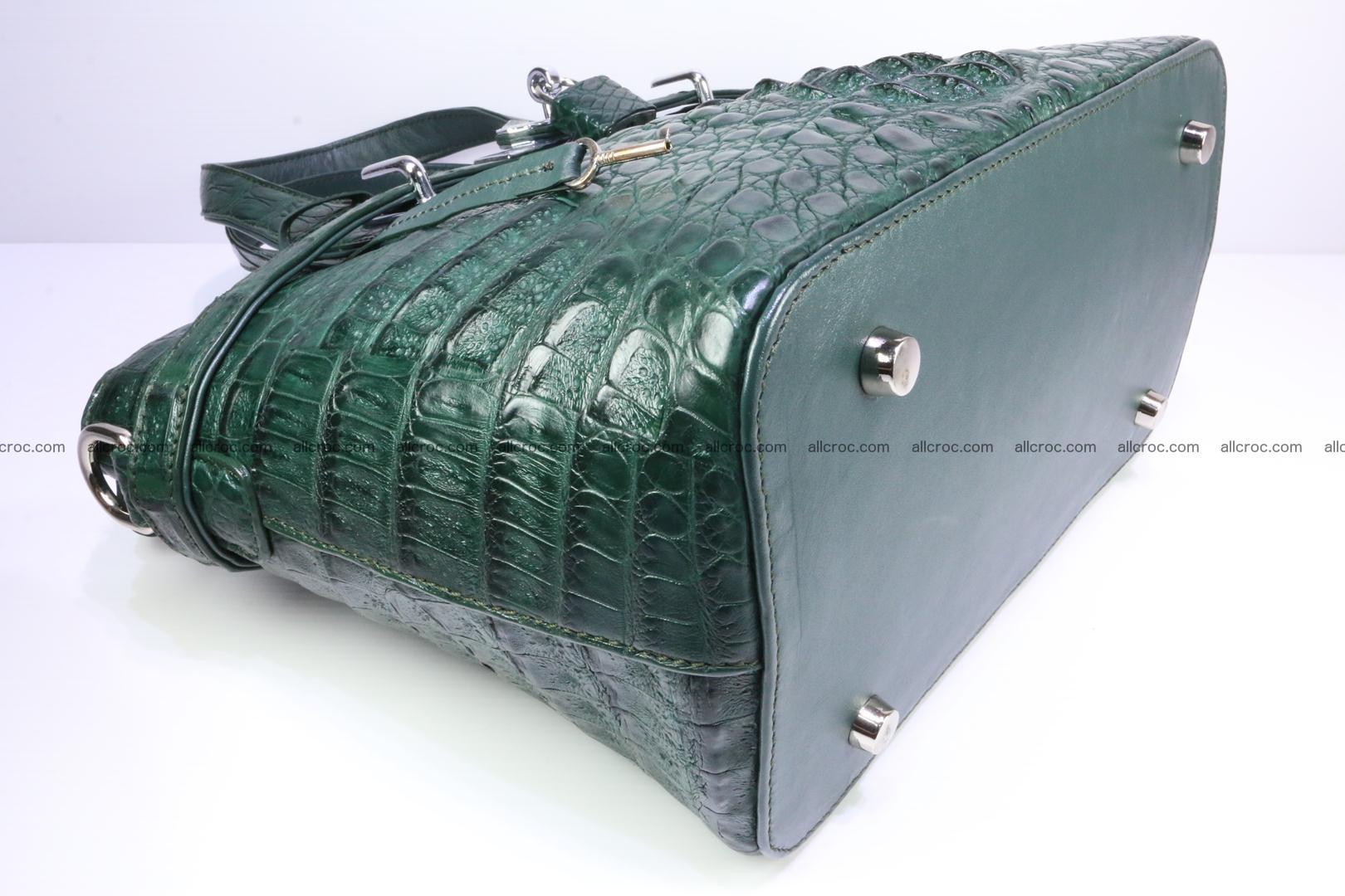 Genuine crocodile handbag for ladies 047 Foto 11