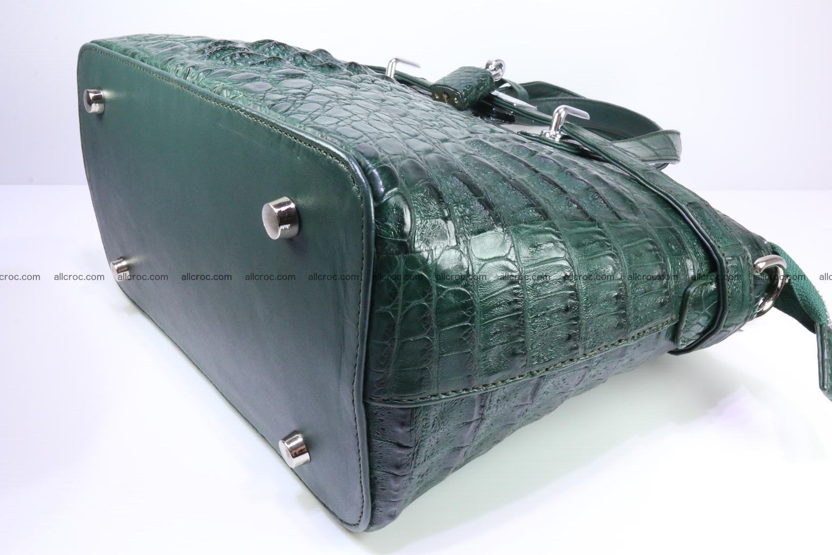 Genuine crocodile handbag for ladies 047 Foto 12