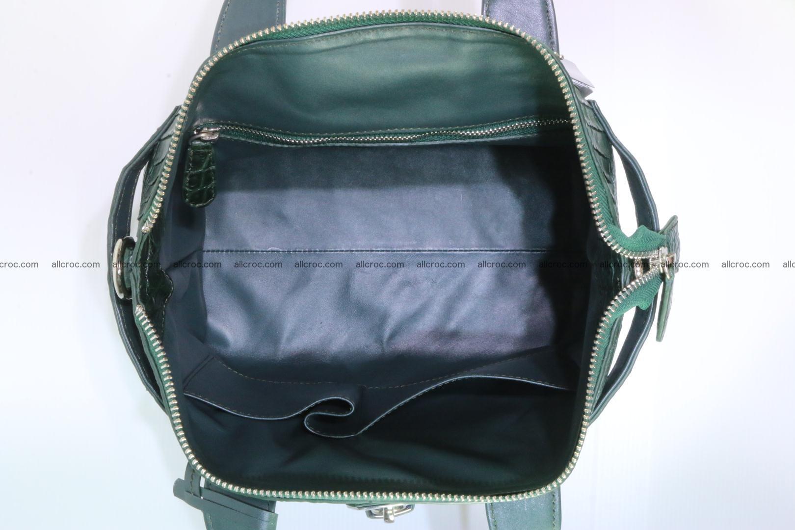 Genuine crocodile handbag for ladies 047 Foto 13