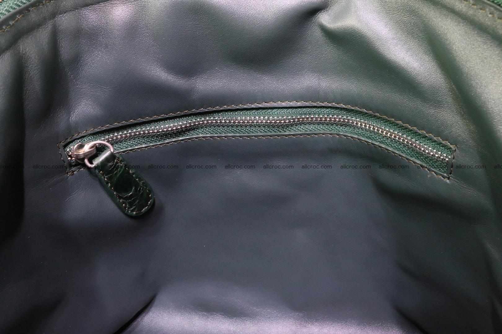 Genuine crocodile handbag for ladies 047 Foto 14