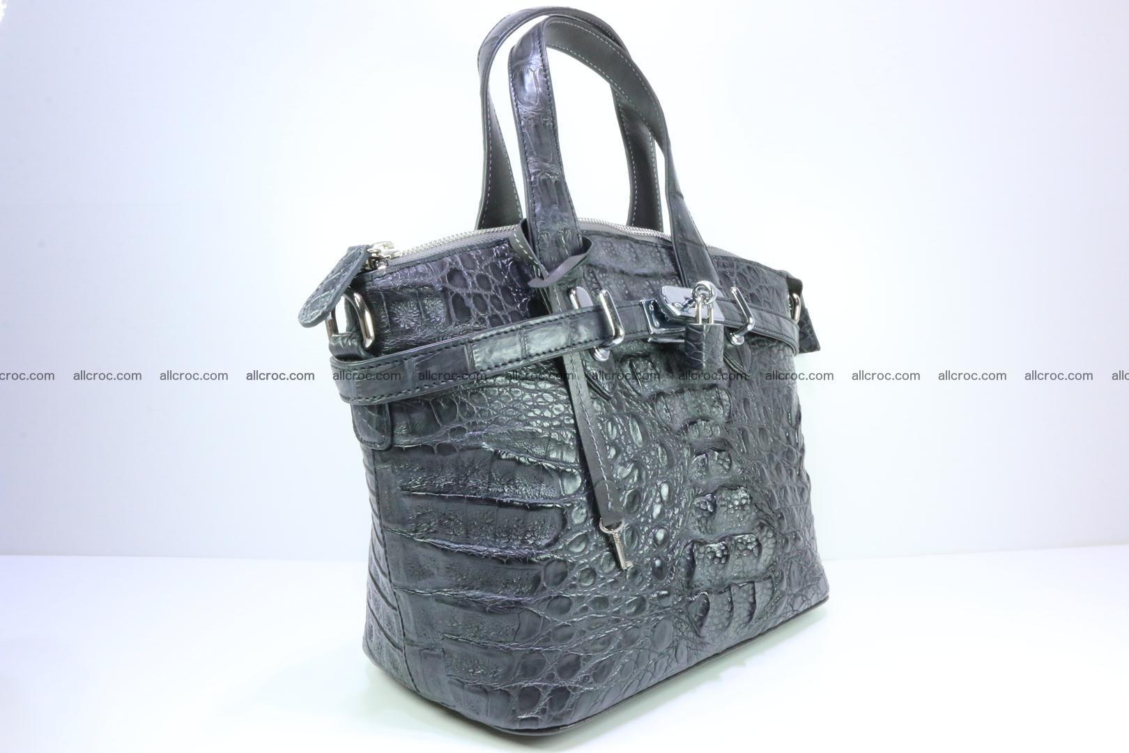 Genuine crocodile handbag for ladies 049 Foto 1