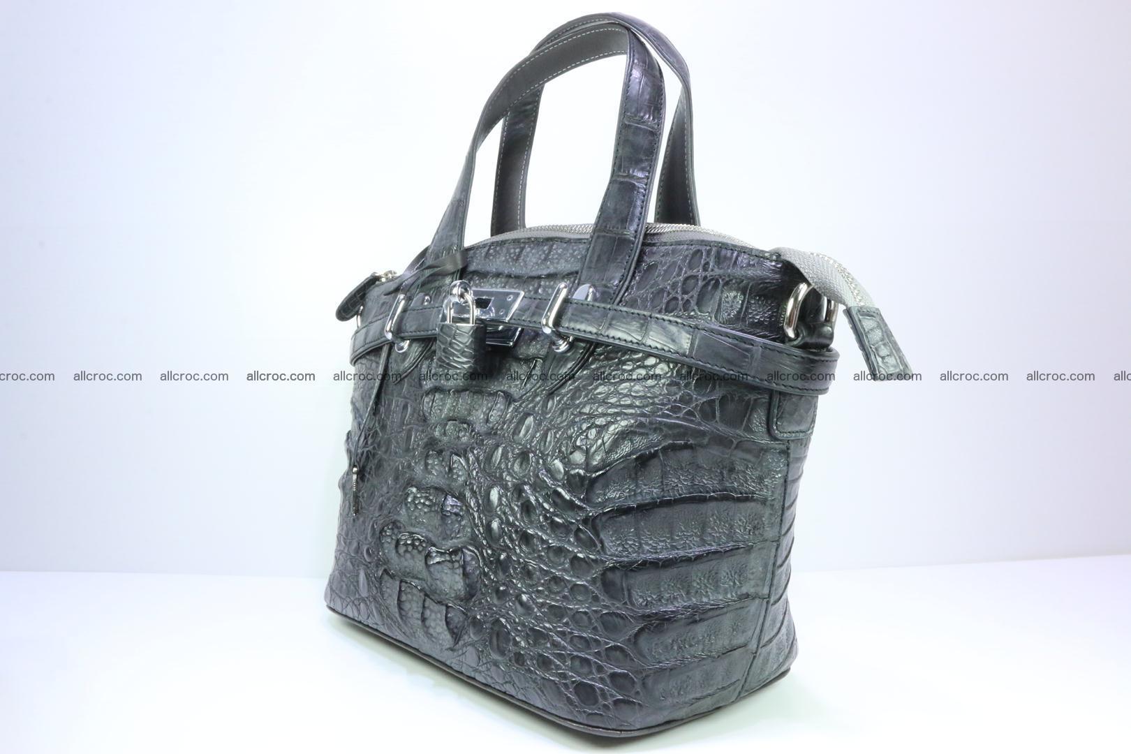 Genuine crocodile handbag for ladies 049 Foto 2