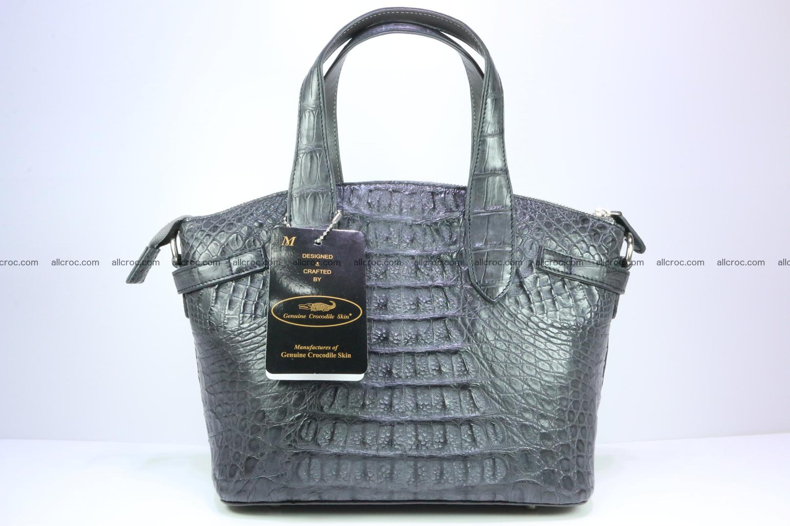 Genuine crocodile handbag for ladies 049 Foto 4