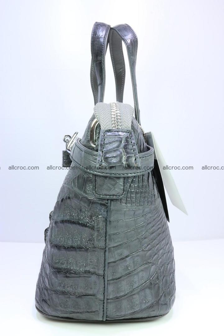 Genuine crocodile handbag for ladies 049 Foto 5