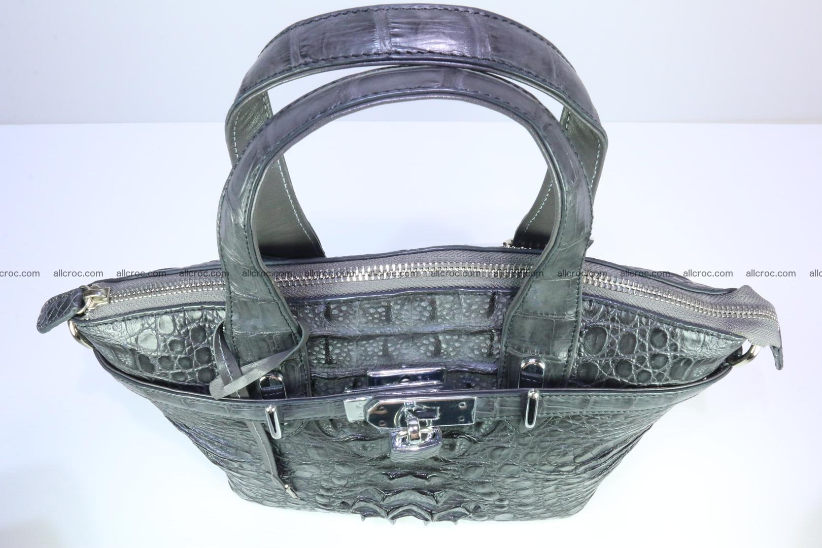 Genuine crocodile handbag for ladies 049 Foto 9