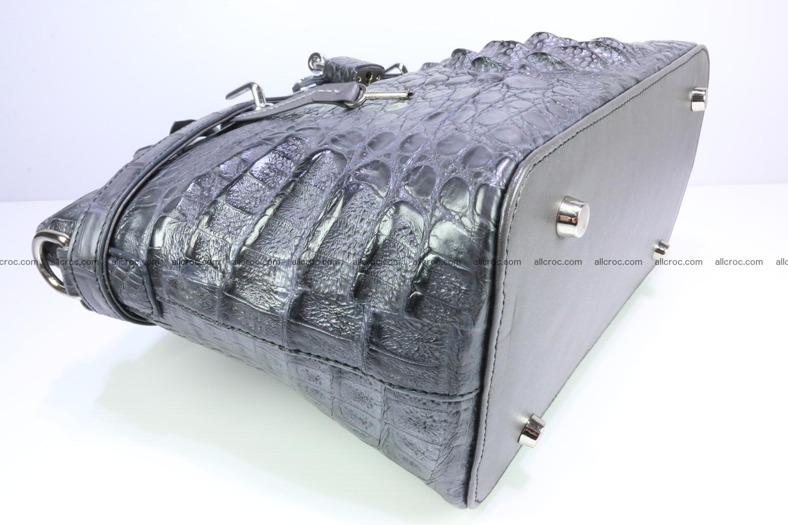 Genuine crocodile handbag for ladies 049 Foto 12