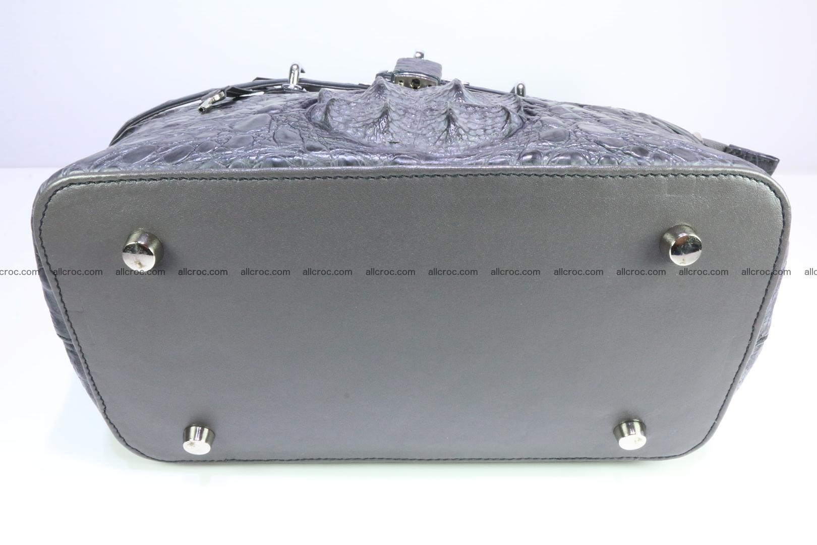 Genuine crocodile handbag for ladies 049 Foto 10