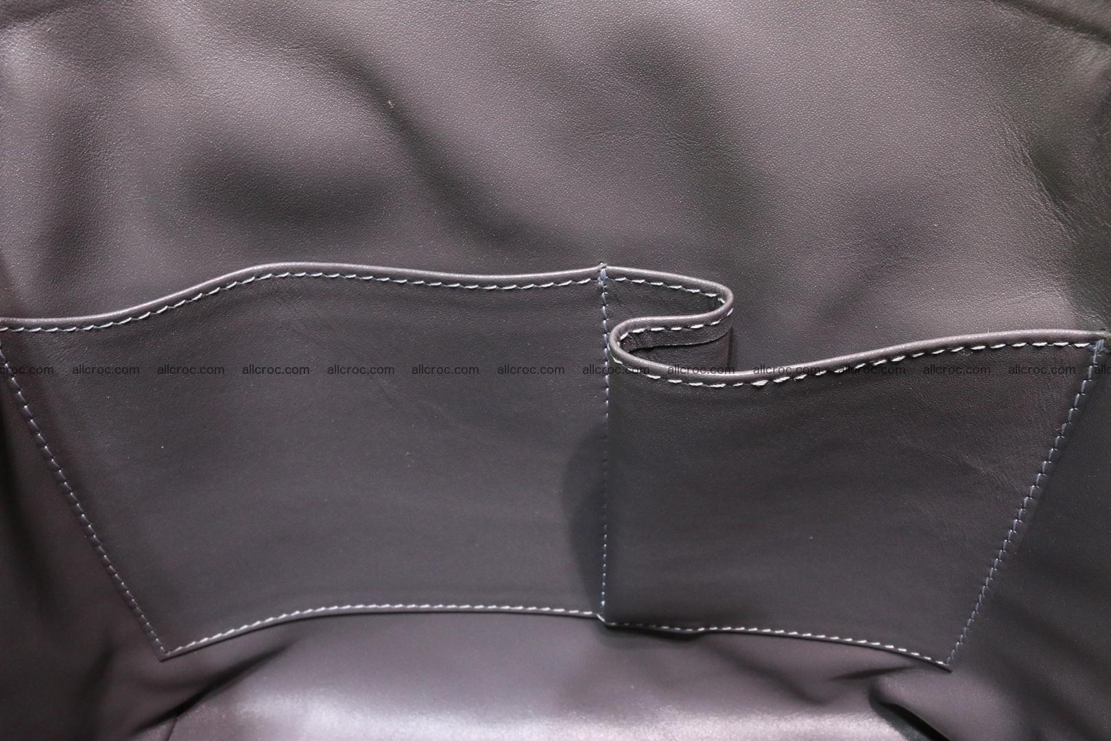 Genuine crocodile handbag for ladies 049 Foto 14