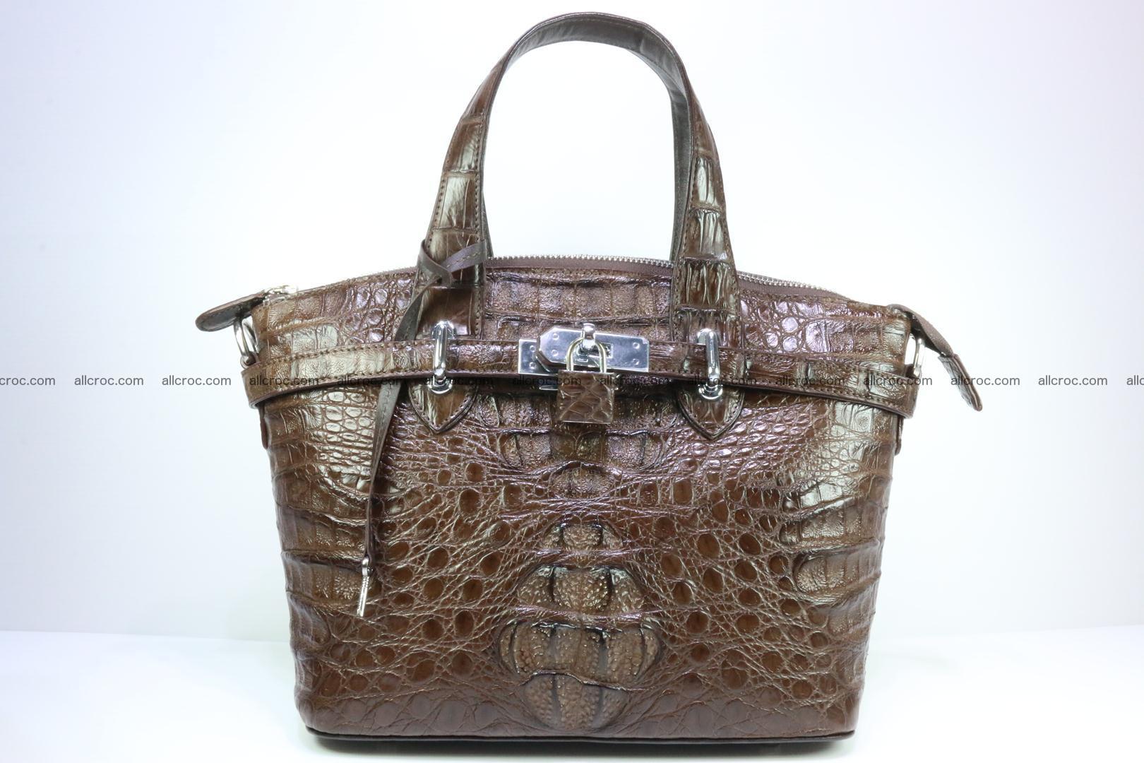 Genuine crocodile handbag for ladies 050 Foto 0