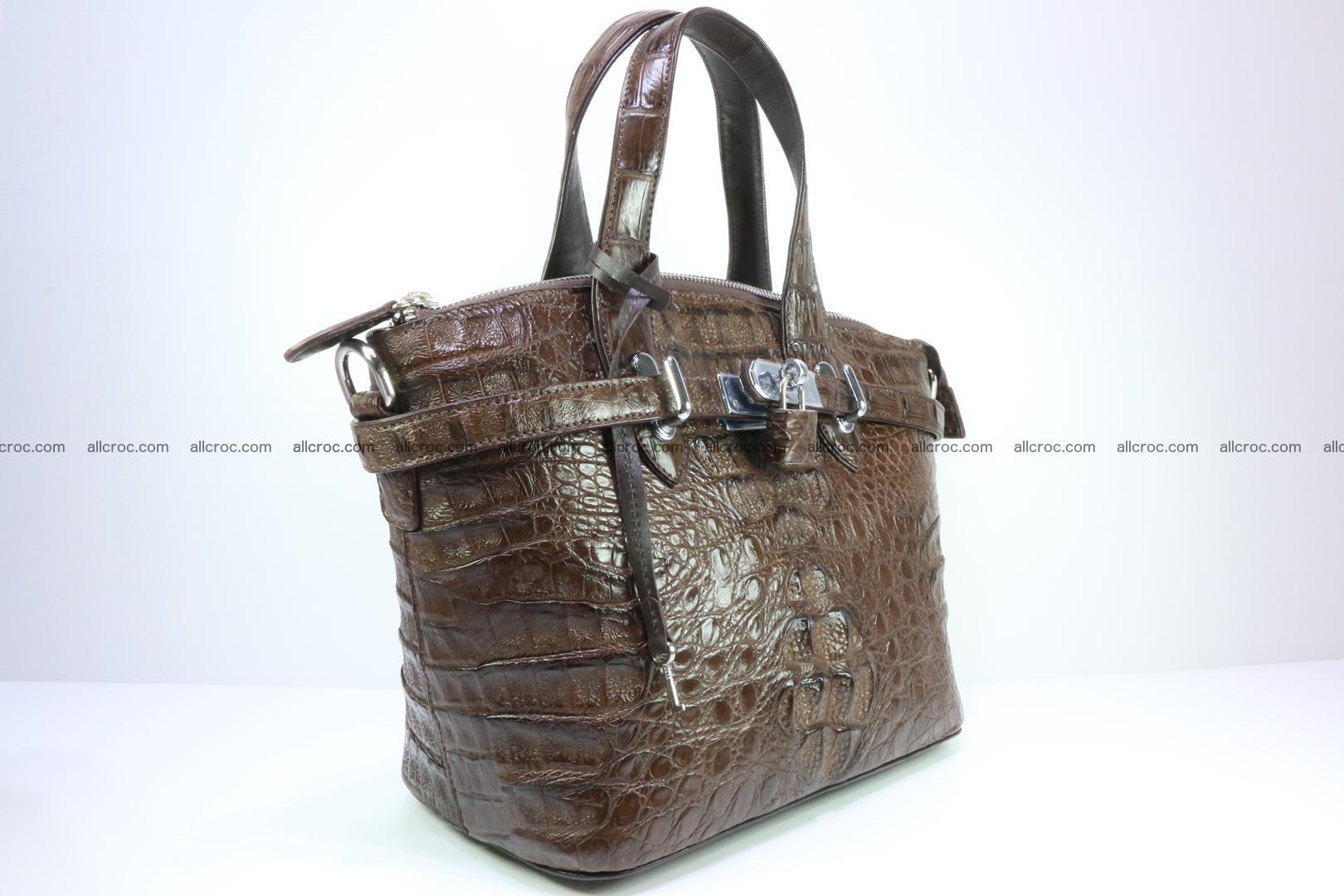 Genuine crocodile handbag for ladies 050 Foto 1