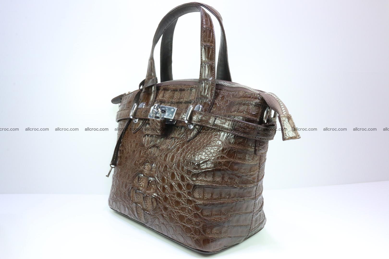 Genuine crocodile handbag for ladies 050 Foto 2