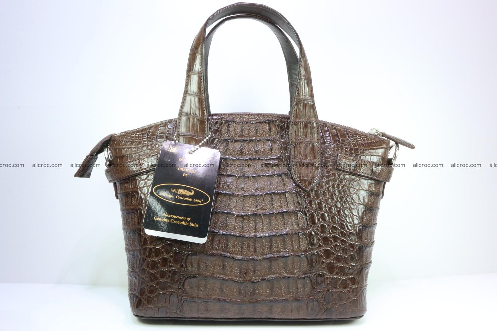 Genuine crocodile handbag for ladies 050 Foto 3