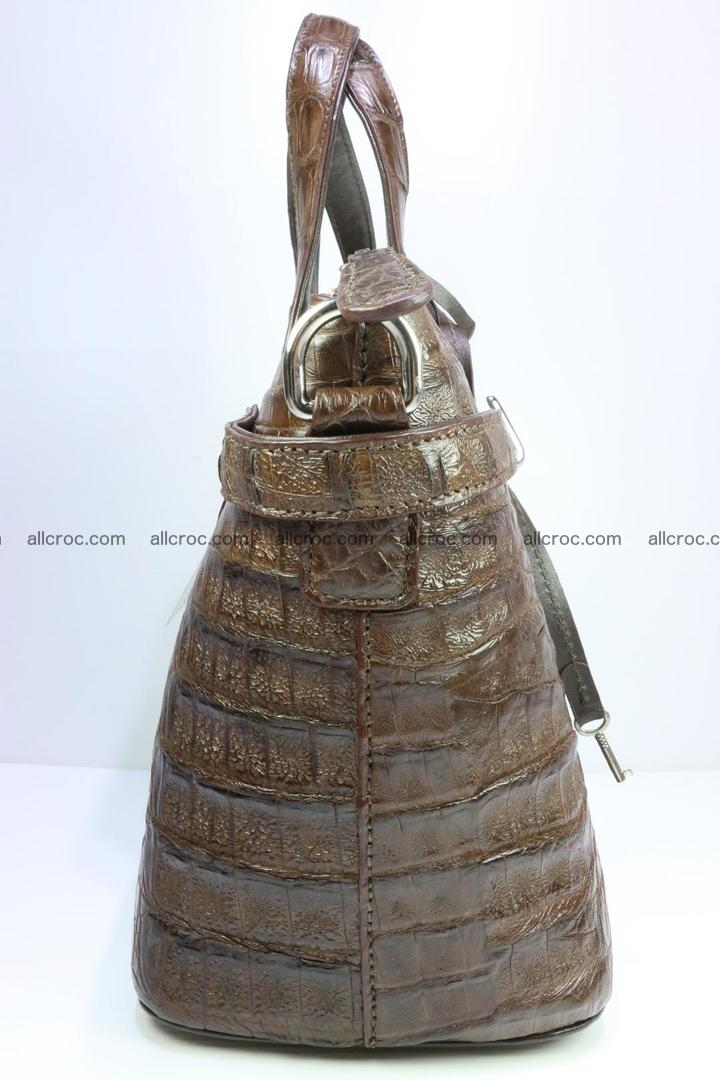 Genuine crocodile handbag for ladies 050 Foto 4