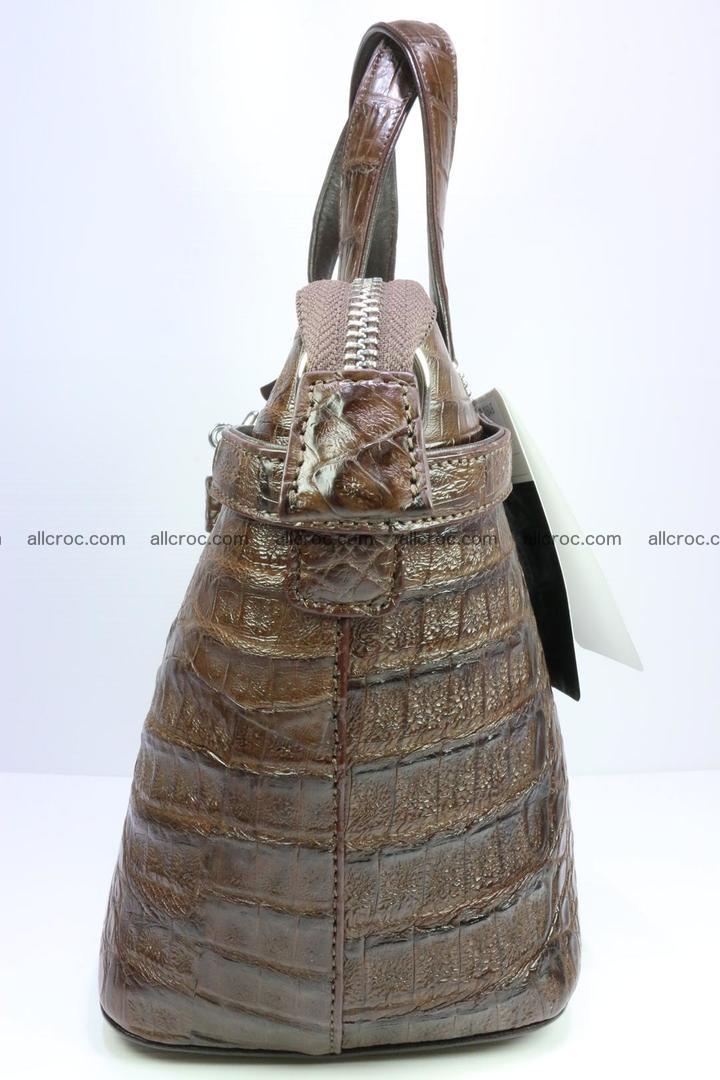 Genuine crocodile handbag for ladies 050 Foto 5