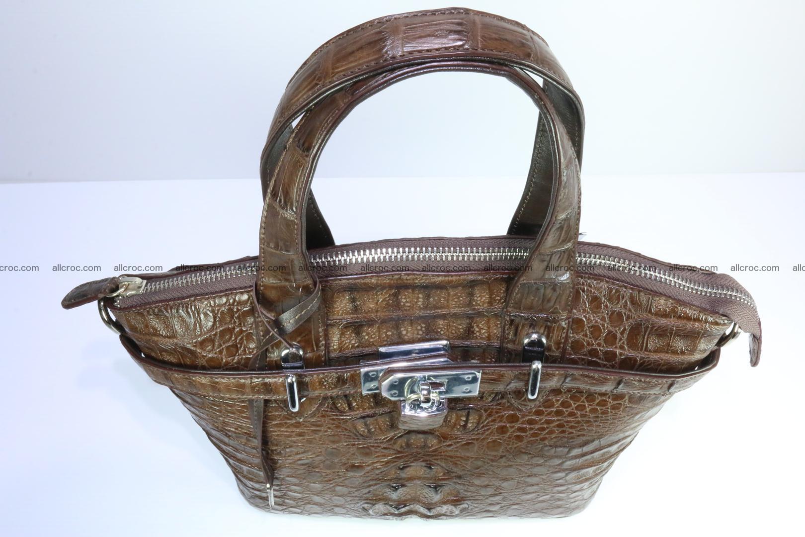 Genuine crocodile handbag for ladies 050 Foto 6