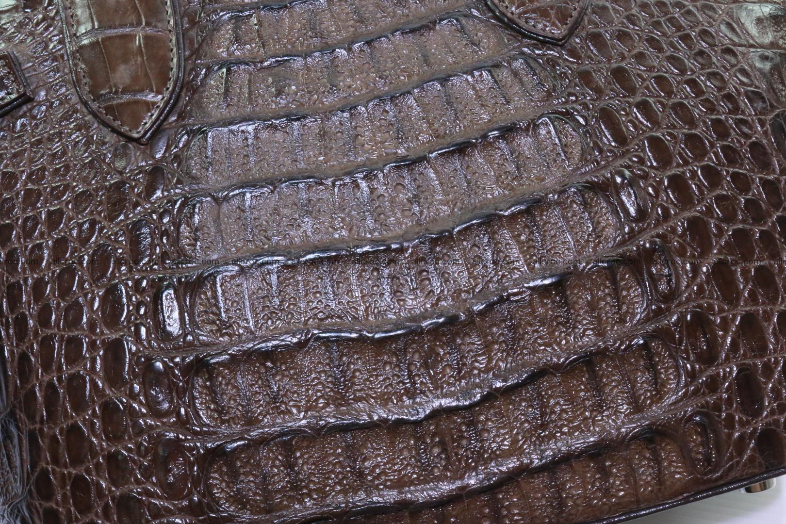 Genuine crocodile handbag for ladies 050 Foto 9