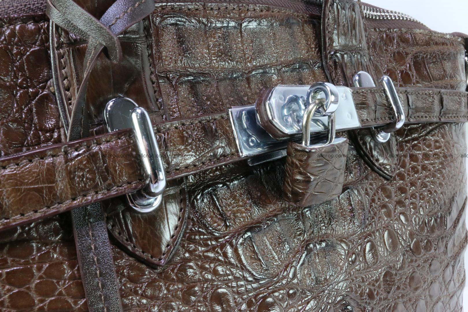Genuine crocodile handbag for ladies 050 Foto 8