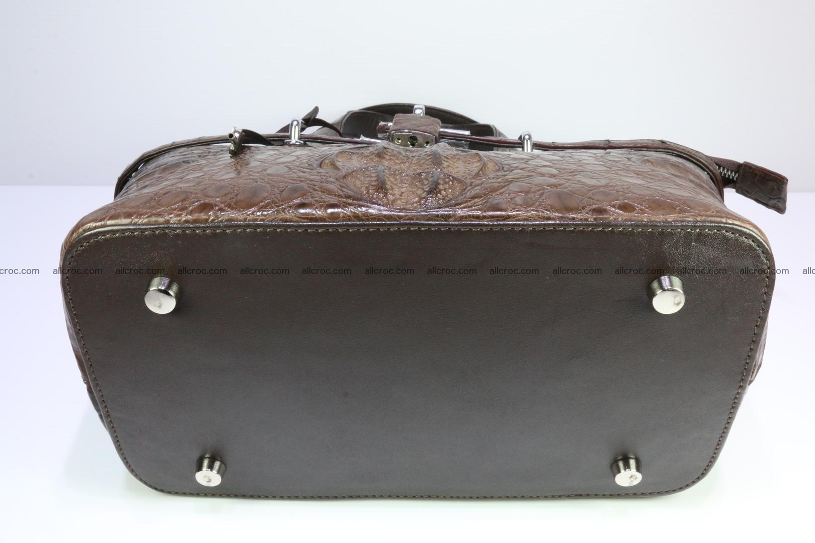 Genuine crocodile handbag for ladies 050 Foto 10