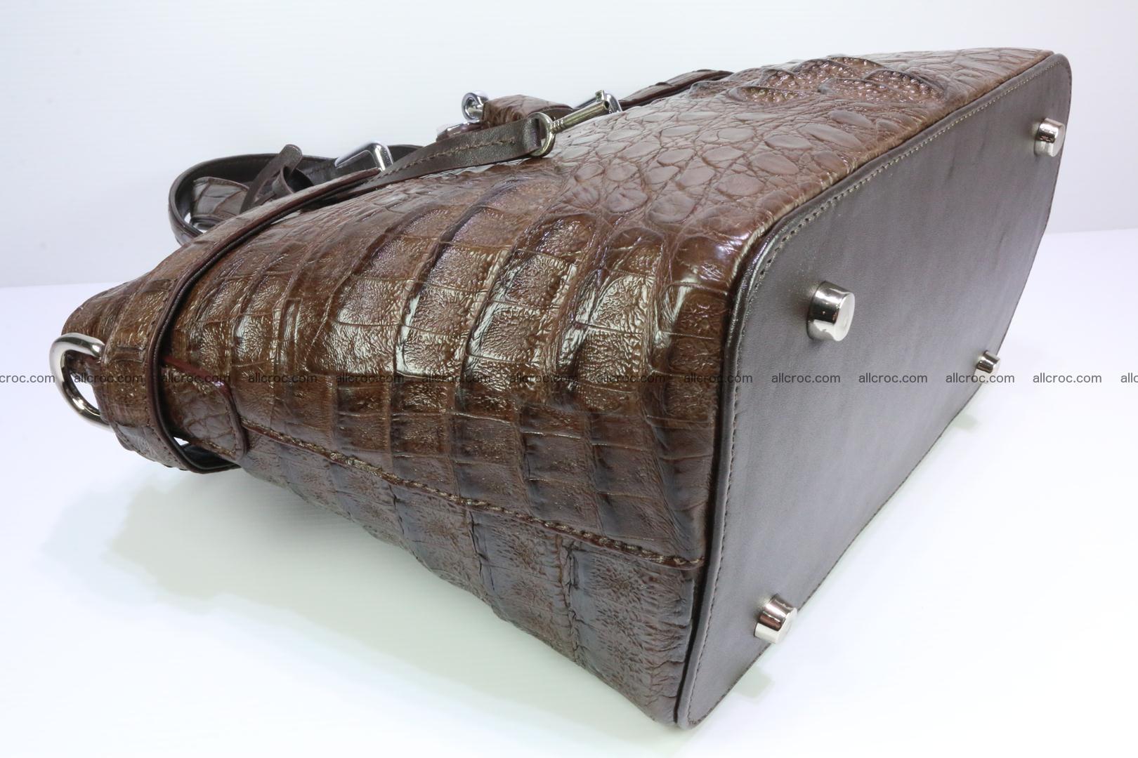 Genuine crocodile handbag for ladies 050 Foto 11