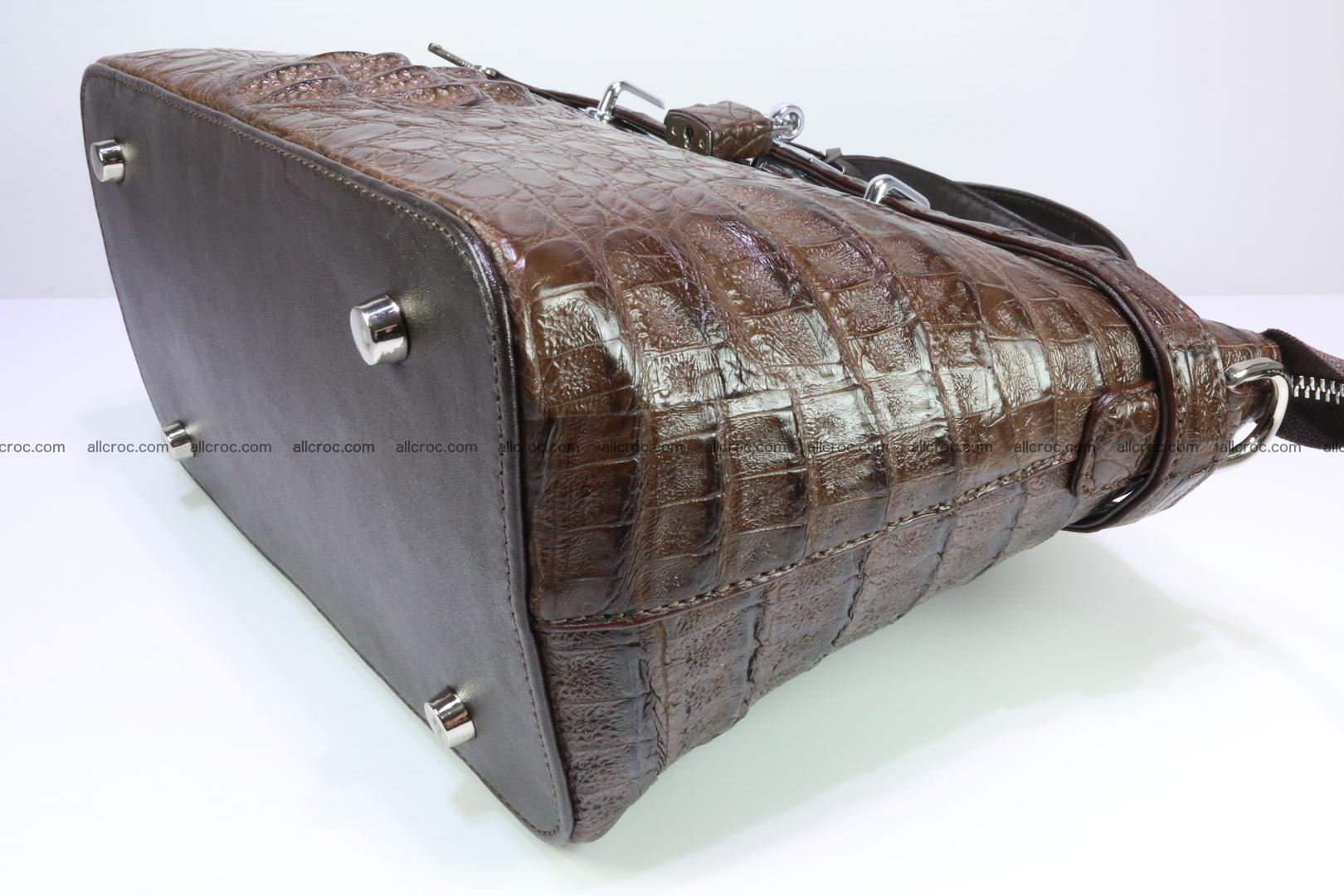 Genuine crocodile handbag for ladies 050 Foto 12