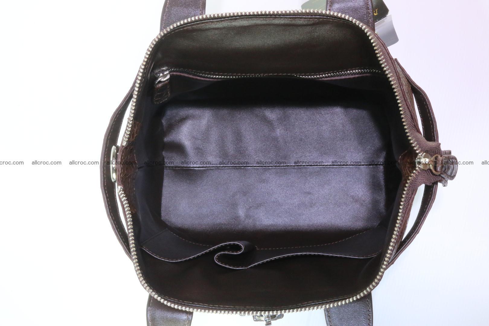 Genuine crocodile handbag for ladies 050 Foto 13