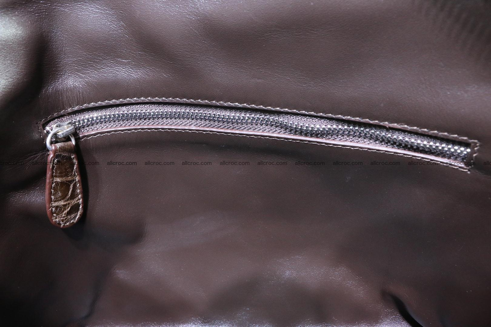 Genuine crocodile handbag for ladies 050 Foto 14