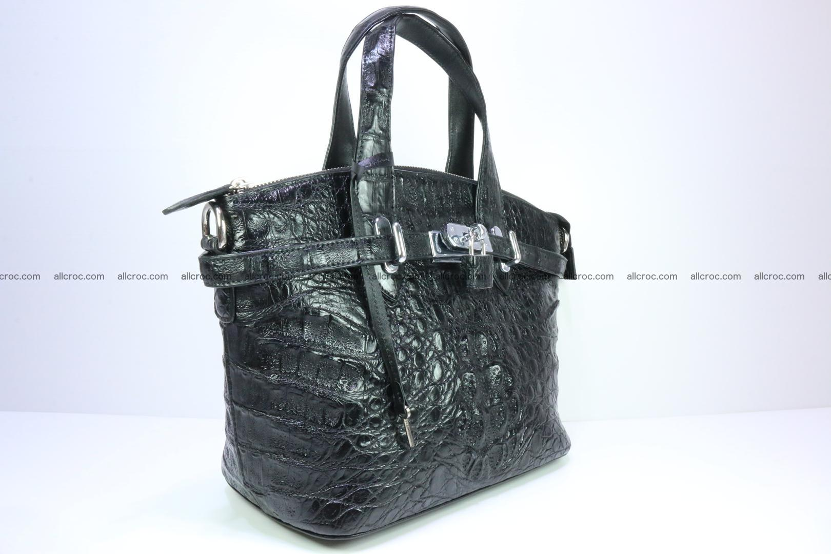 Genuine crocodile handbag for ladies 051 Foto 1