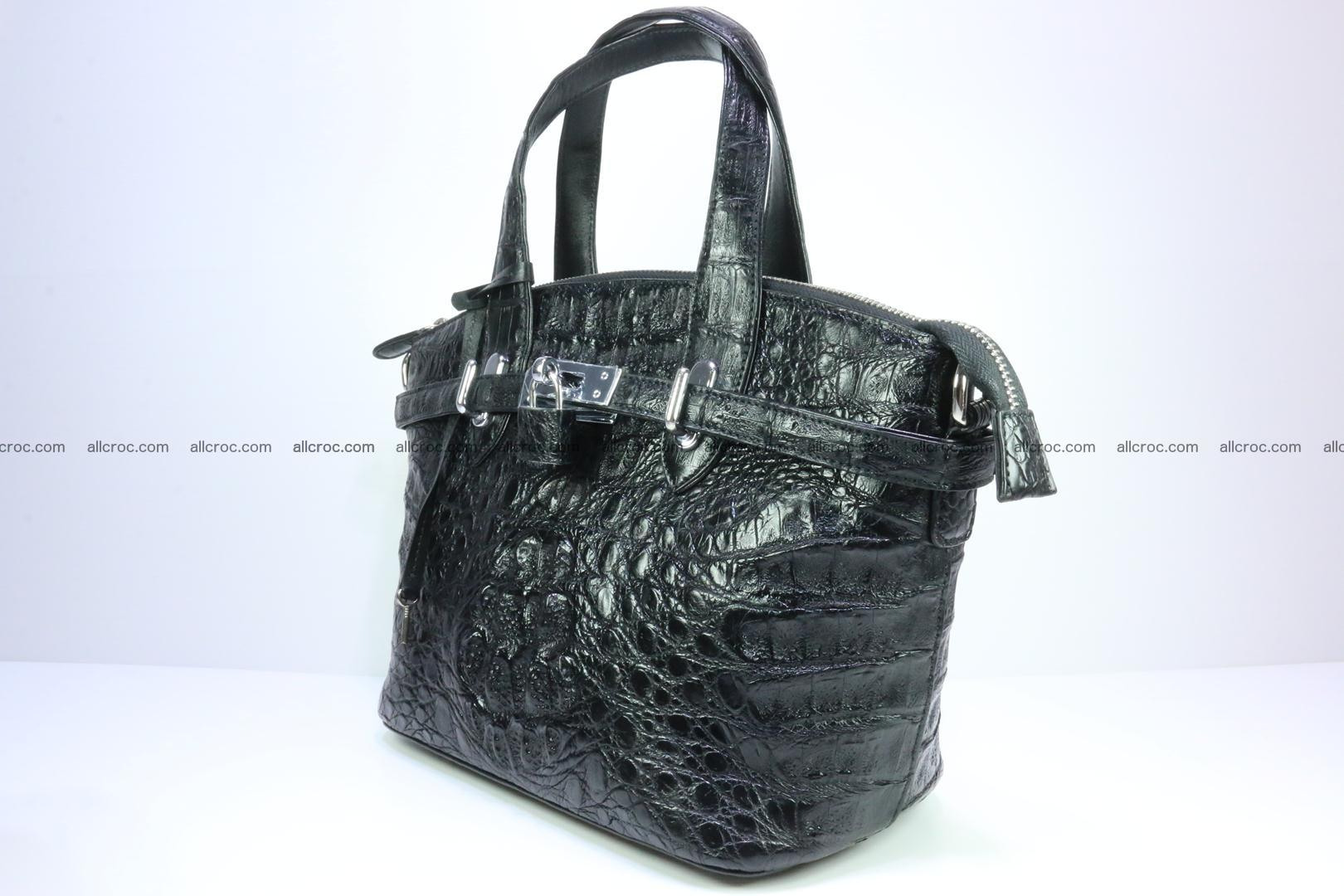 Genuine crocodile handbag for ladies 051 Foto 2