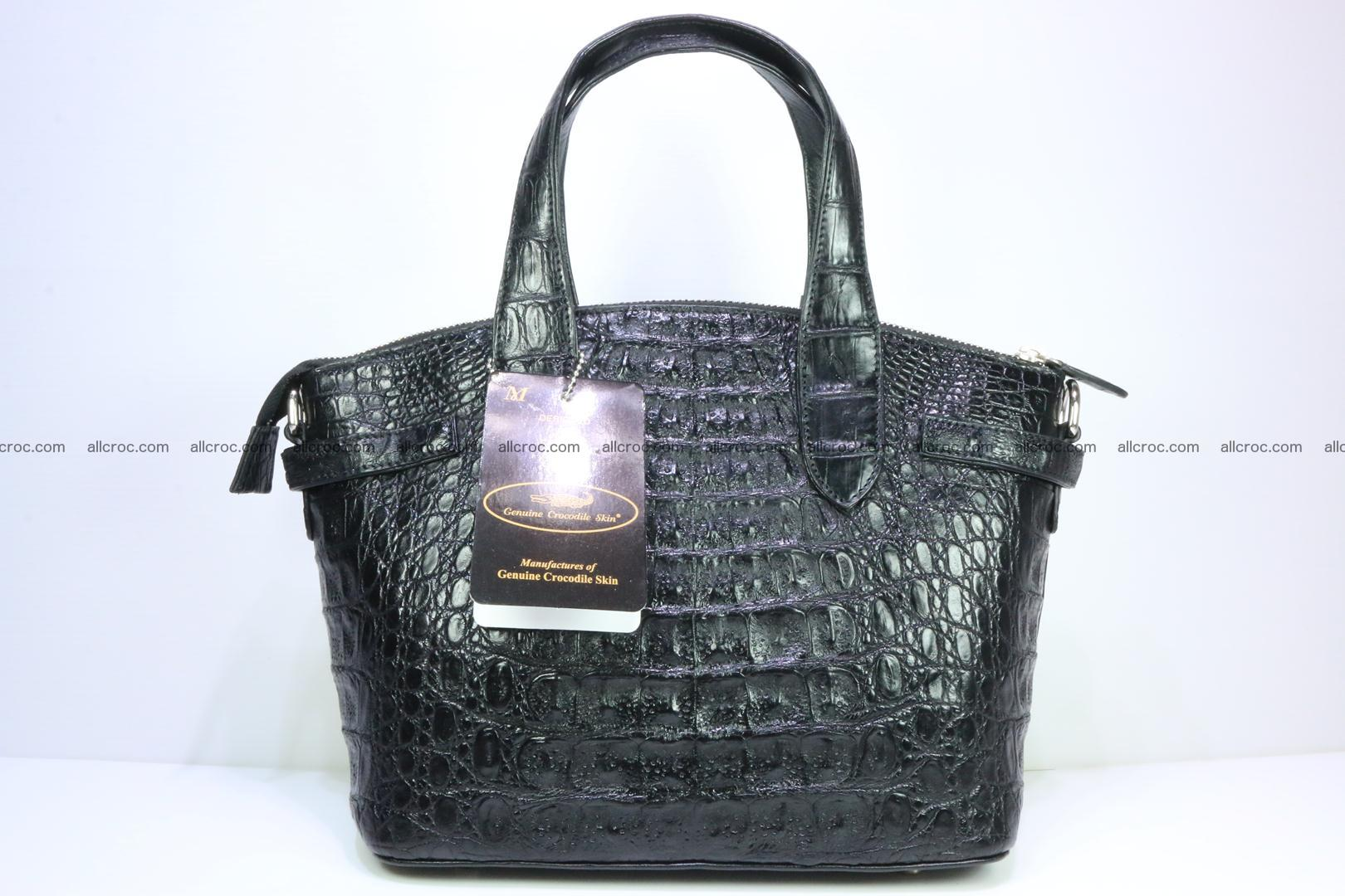 Genuine crocodile handbag for ladies 051 Foto 5