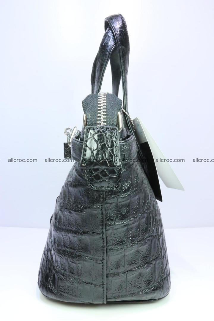 Genuine crocodile handbag for ladies 051 Foto 3