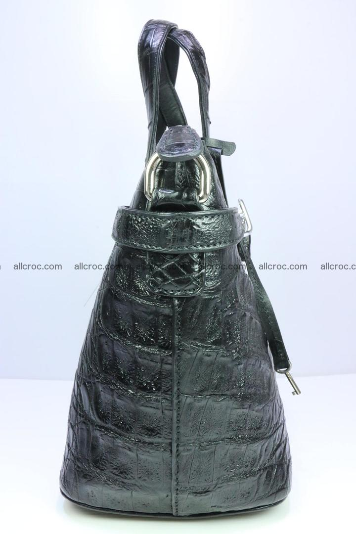 Genuine crocodile handbag for ladies 051 Foto 4