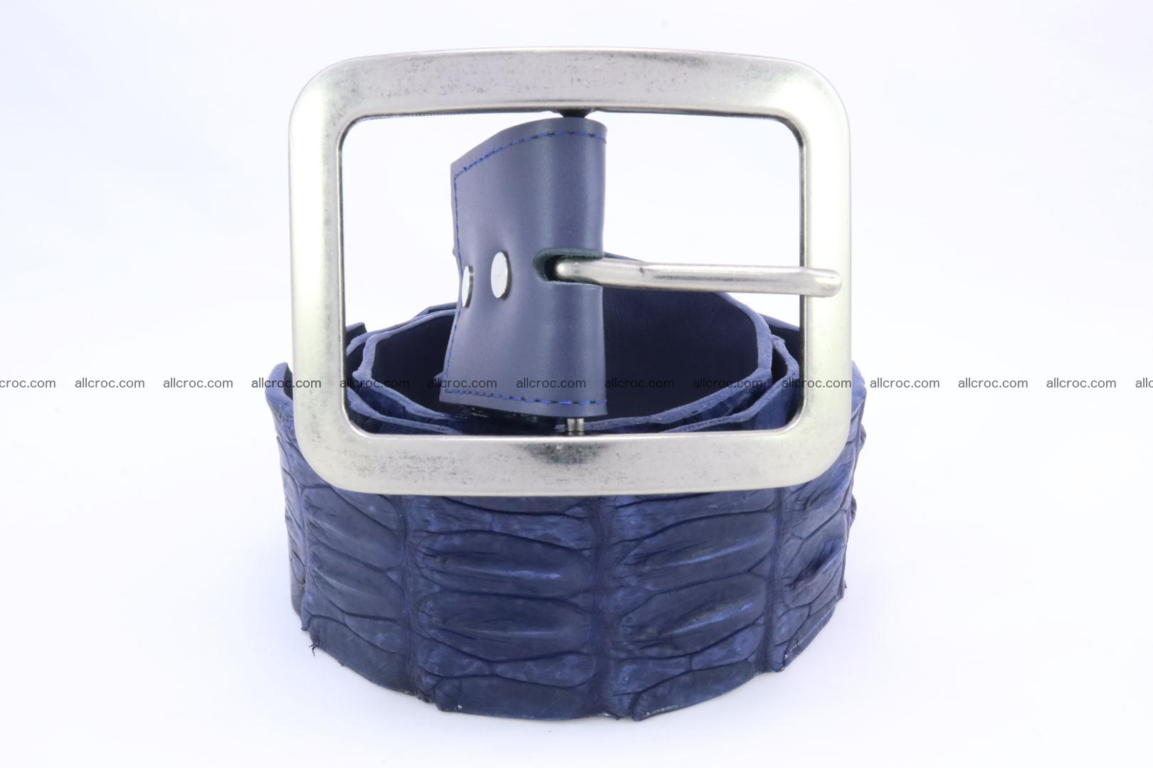 Genuine crocodile hornback belt for jeans width 50mm 151 Foto 1