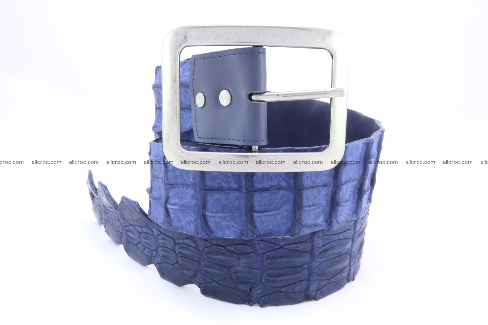 Genuine crocodile hornback belt for jeans width 50mm 151 Foto 2