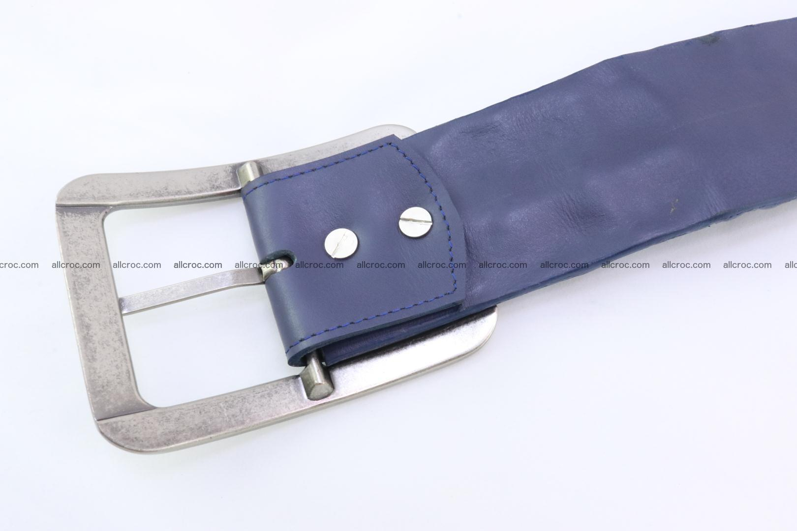 Genuine crocodile hornback belt for jeans width 50mm 151 Foto 6