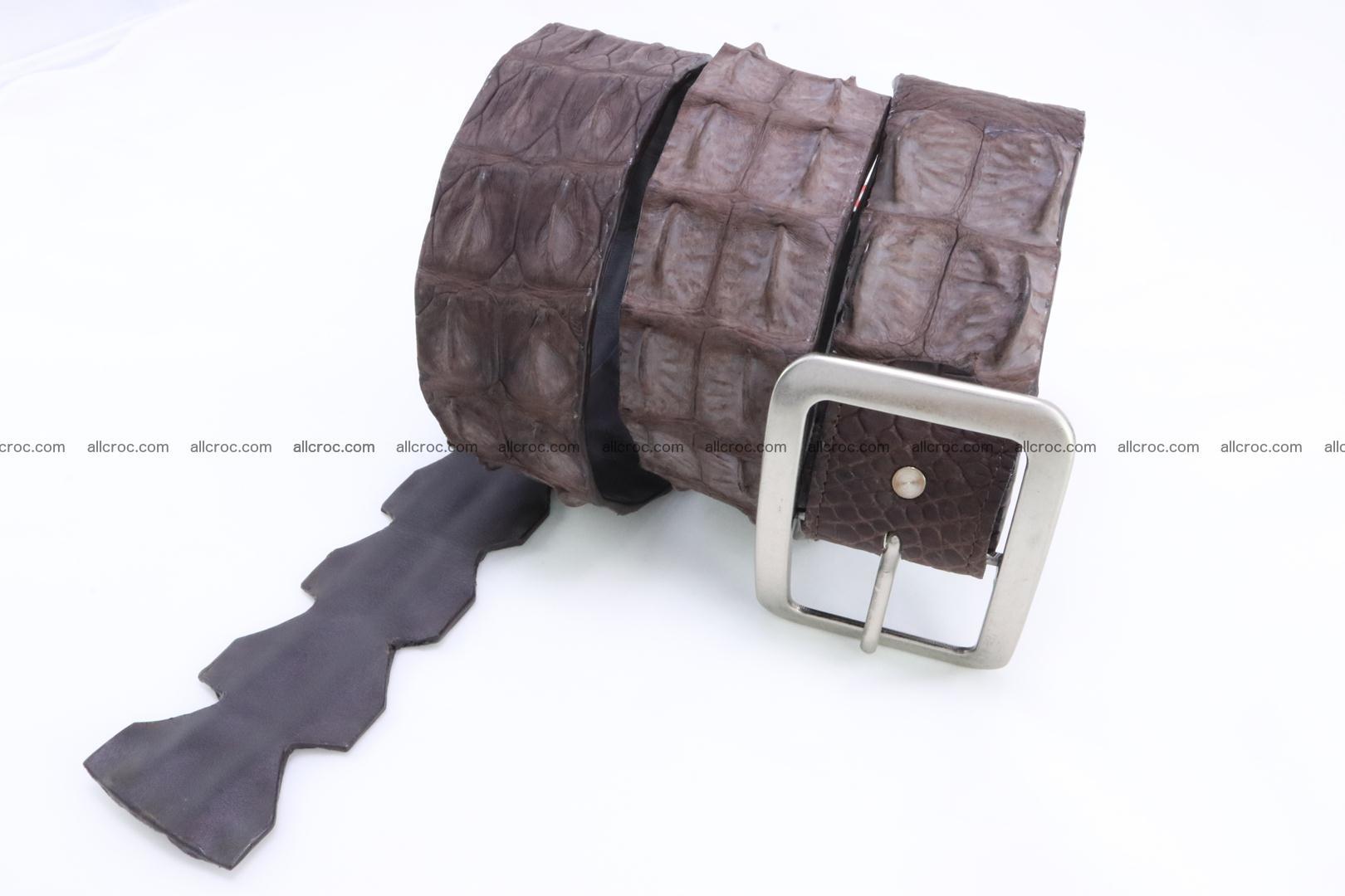 Genuine crocodile hornback belt for jeans width 50mm 152 Foto 0