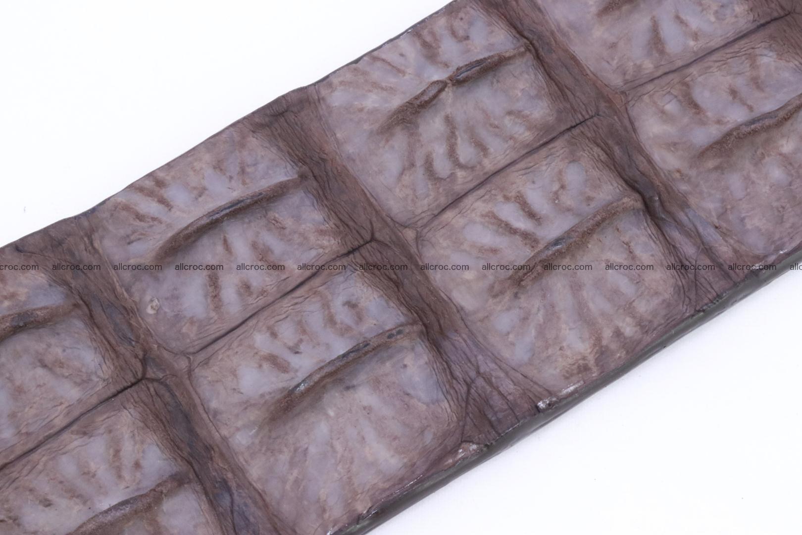 Genuine crocodile hornback belt for jeans width 50mm 152 Foto 5