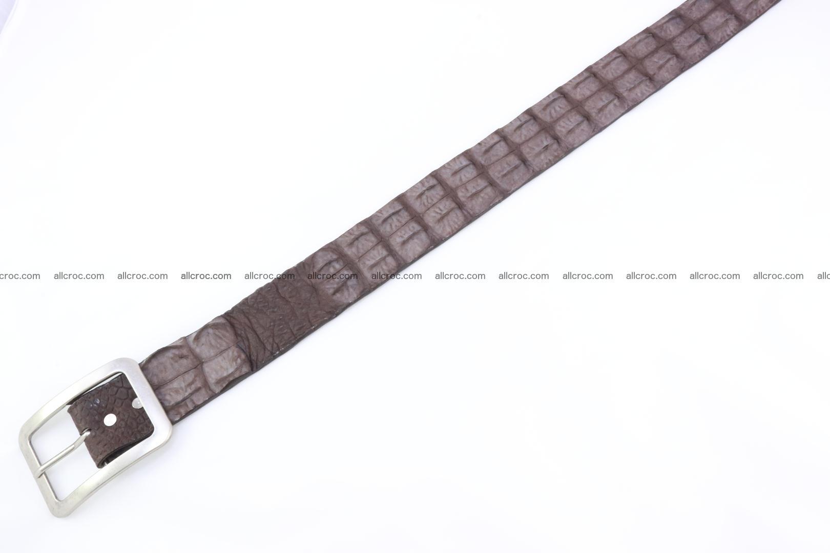 Genuine crocodile hornback belt for jeans width 50mm 152 Foto 4