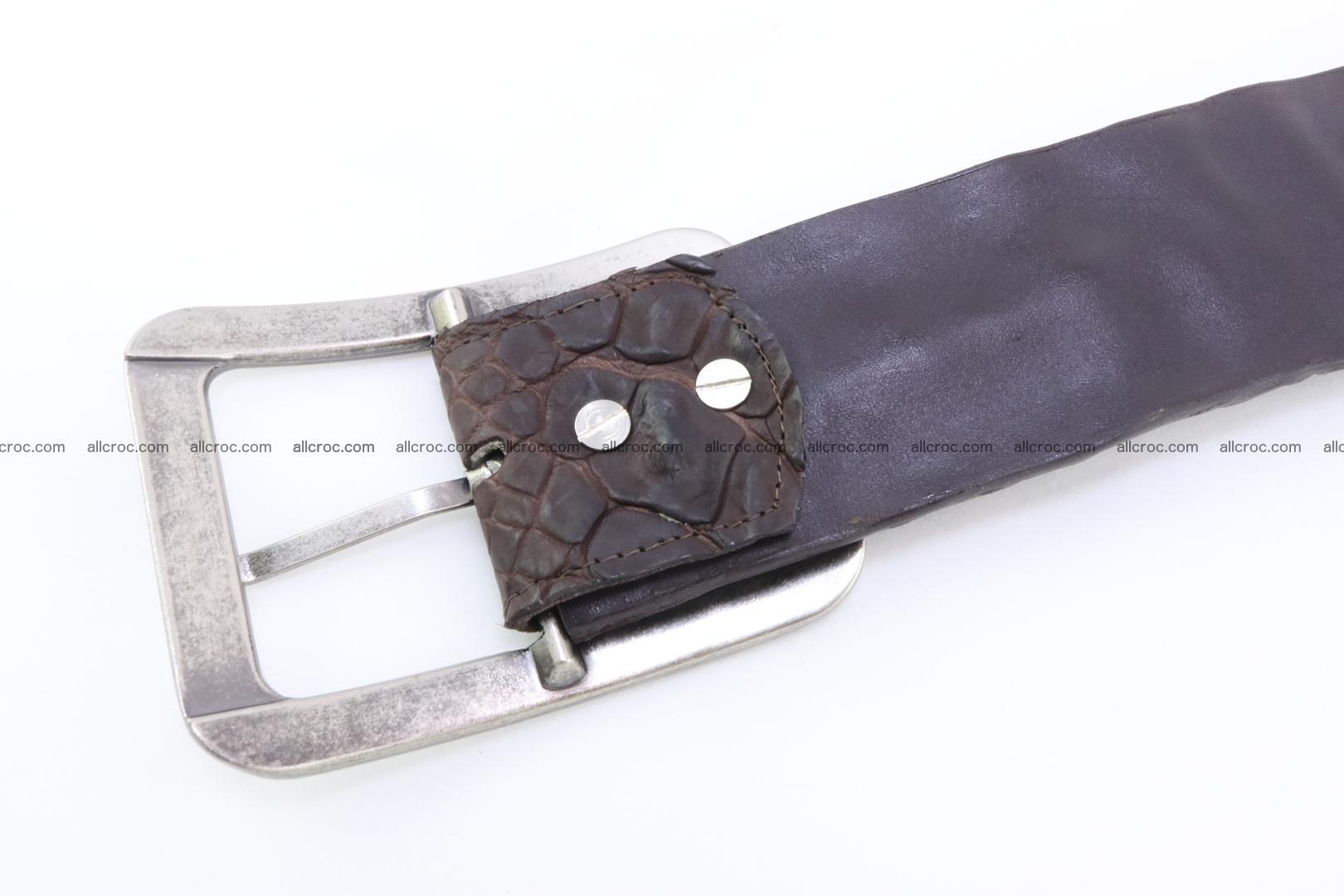 Genuine crocodile hornback belt for jeans width 50mm 152 Foto 6