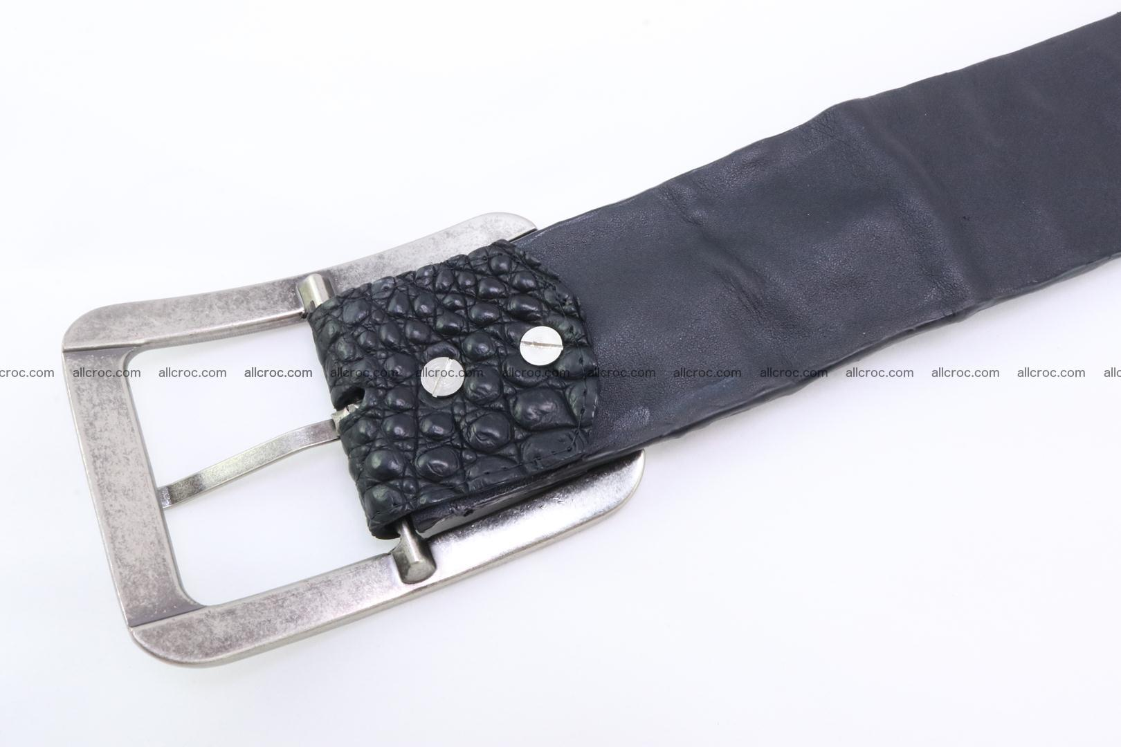 Genuine crocodile hornback belt for jeans width 50mm 156 Foto 7
