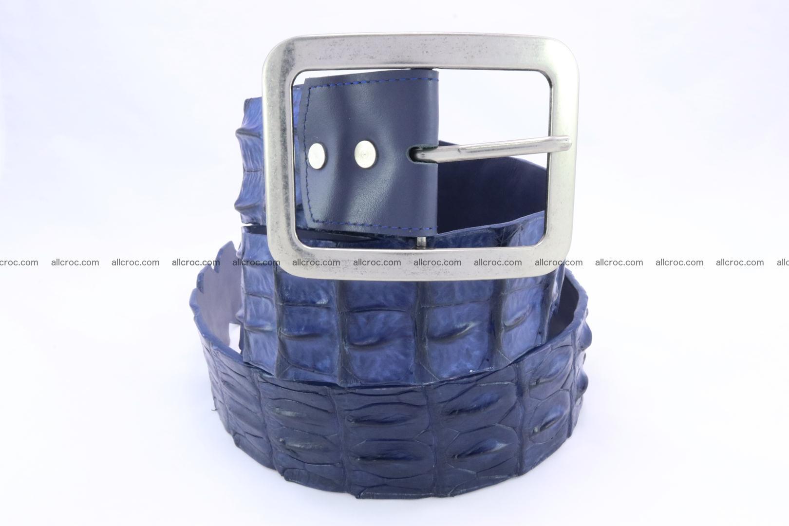 Genuine crocodile hornback belt for jeans width 50mm 154 Foto 2