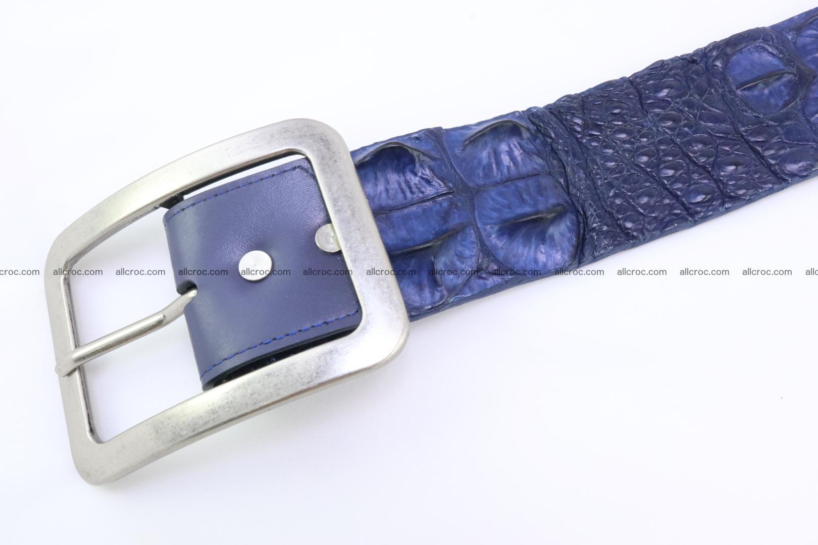 Genuine crocodile hornback belt for jeans width 50mm 154 Foto 3