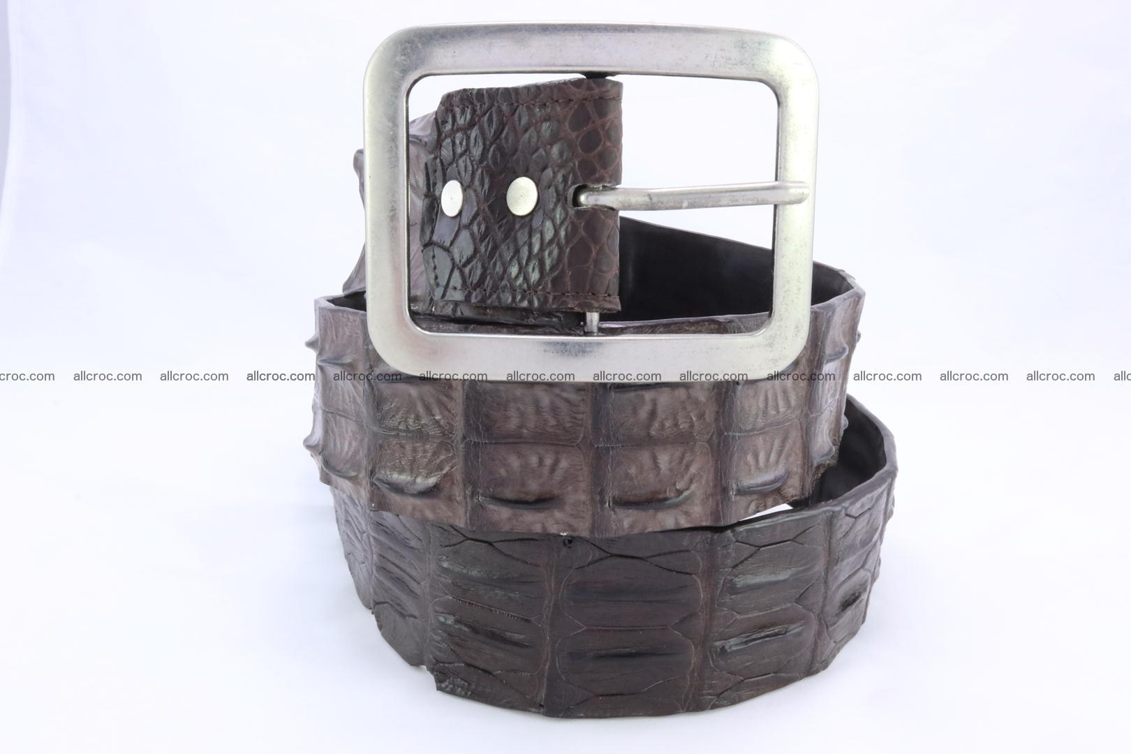 Genuine crocodile hornback belt for jeans width 50mm 155 Foto 1