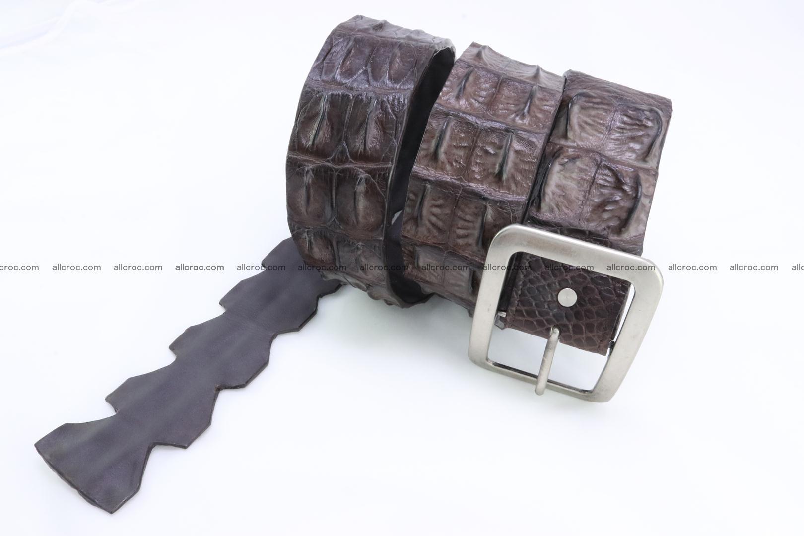 Genuine crocodile hornback belt for jeans width 50mm 155 Foto 0
