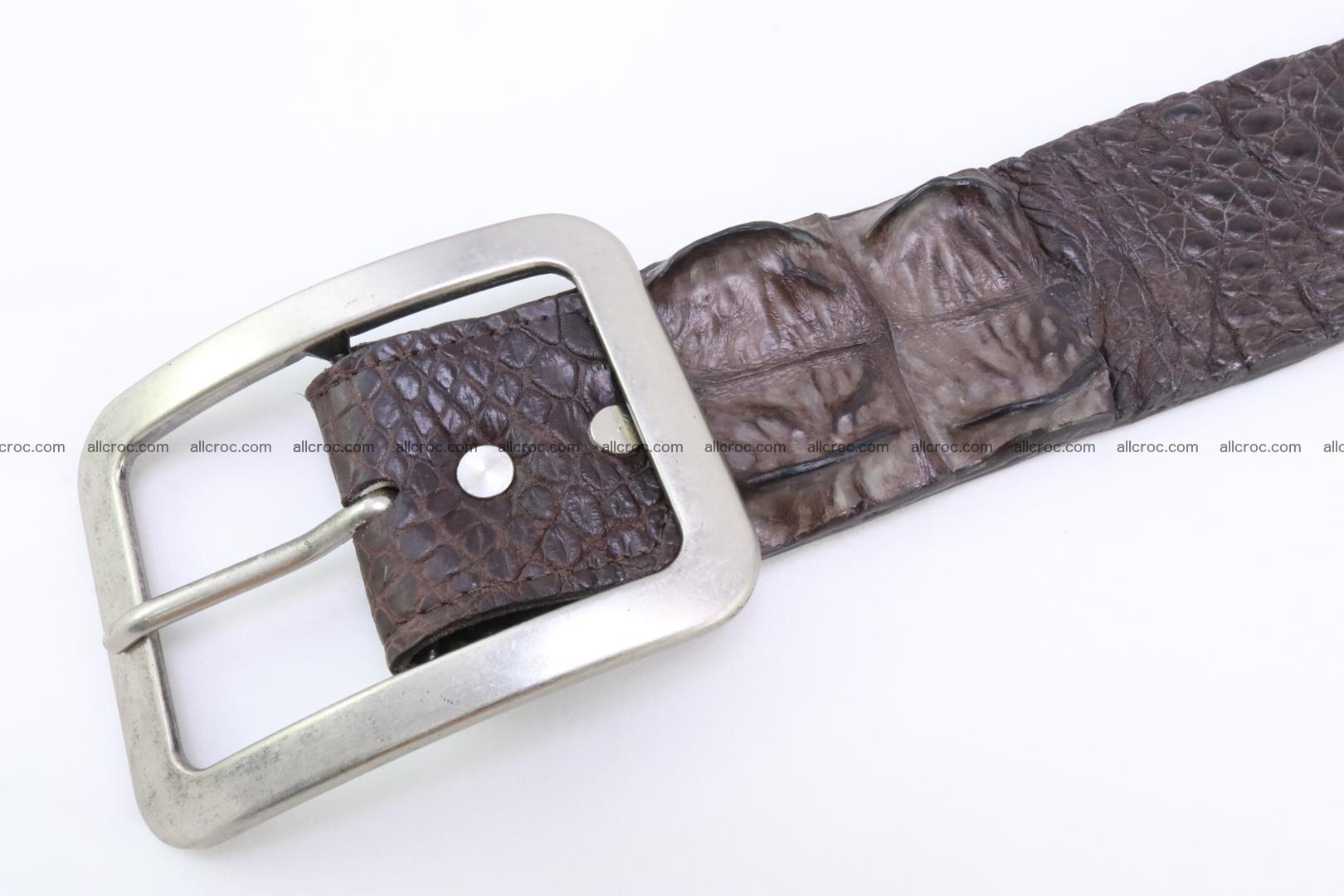 Genuine crocodile hornback belt for jeans width 50mm 155 Foto 3