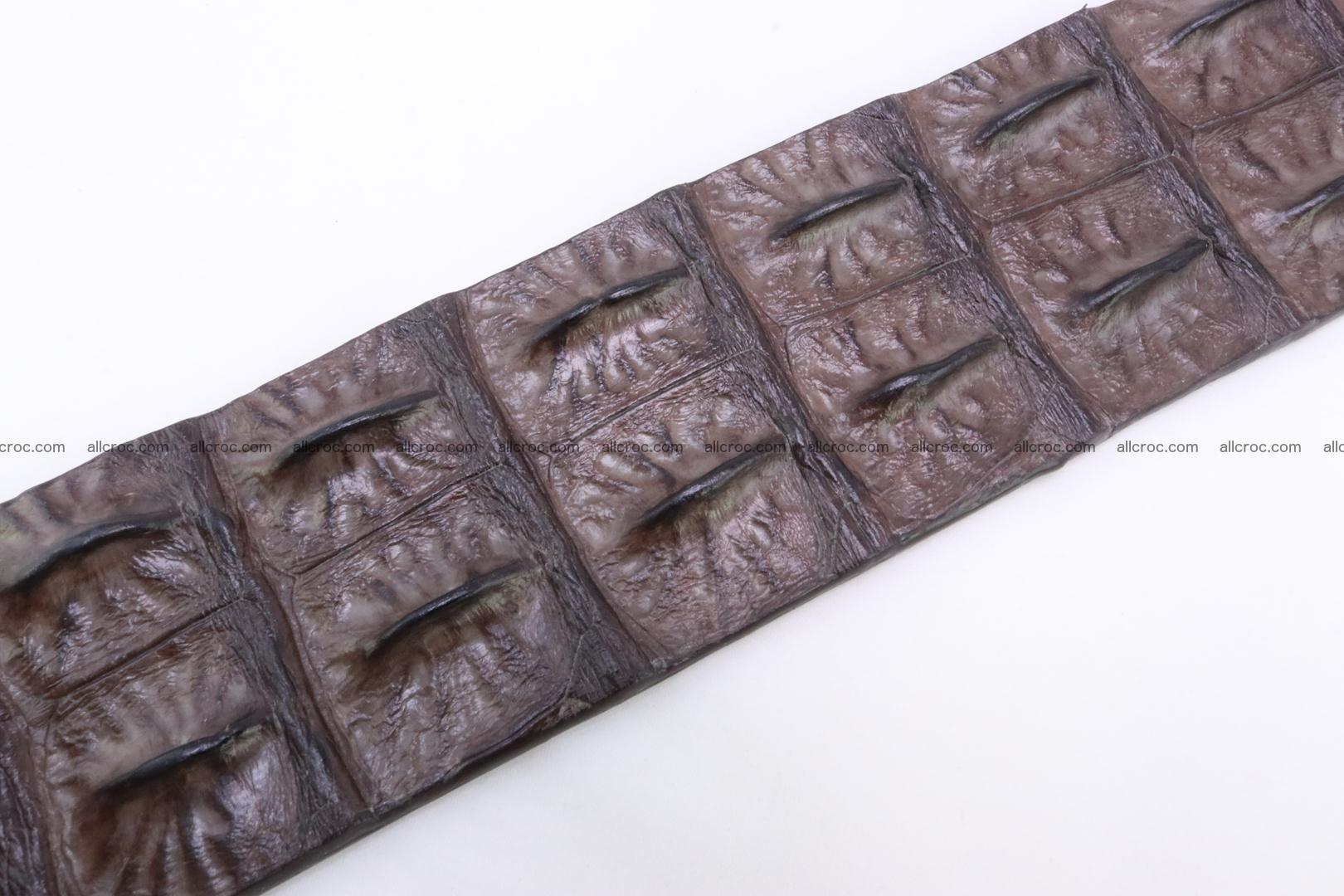 Genuine crocodile hornback belt for jeans width 50mm 155 Foto 5