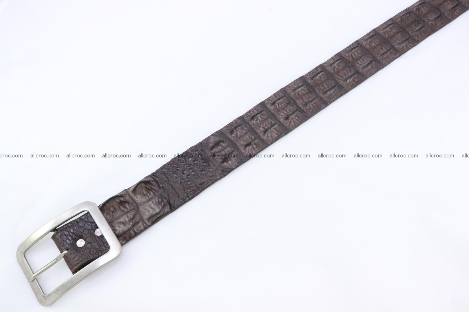 Genuine crocodile hornback belt for jeans width 50mm 155 Foto 4