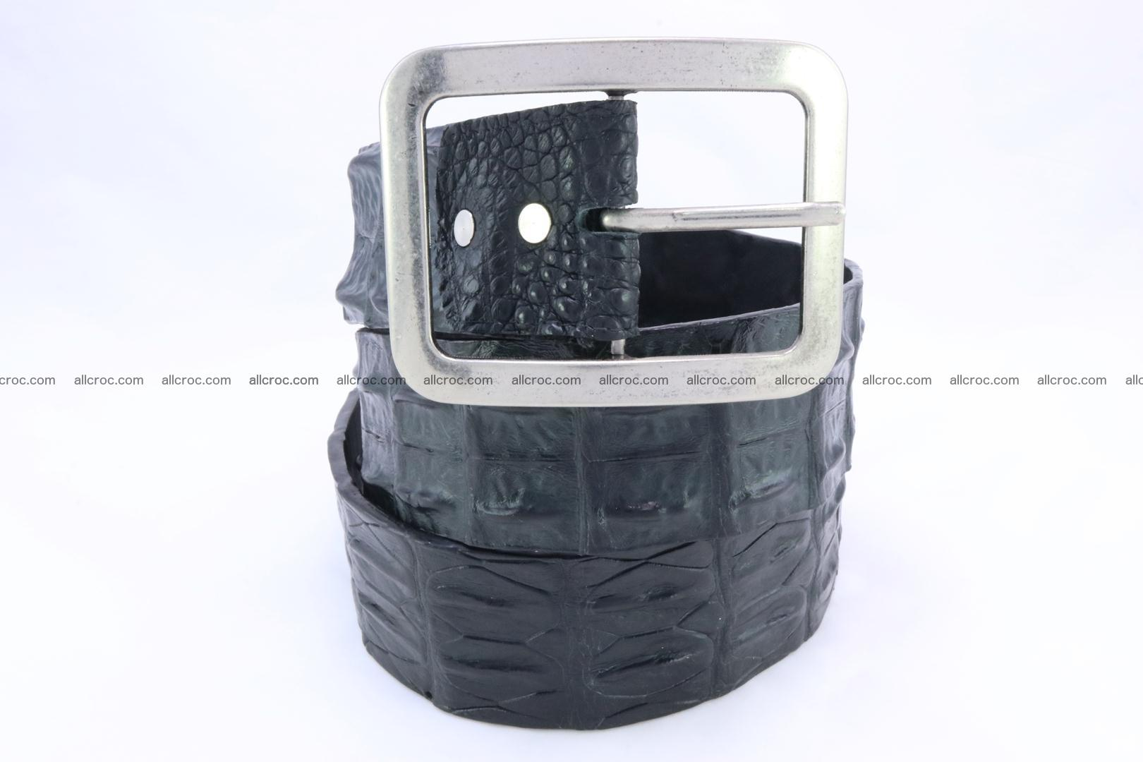 Genuine crocodile hornback belt for jeans width 50mm 156 Foto 2