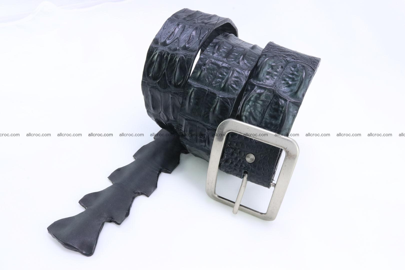 Genuine crocodile hornback belt for jeans width 50mm 156 Foto 0