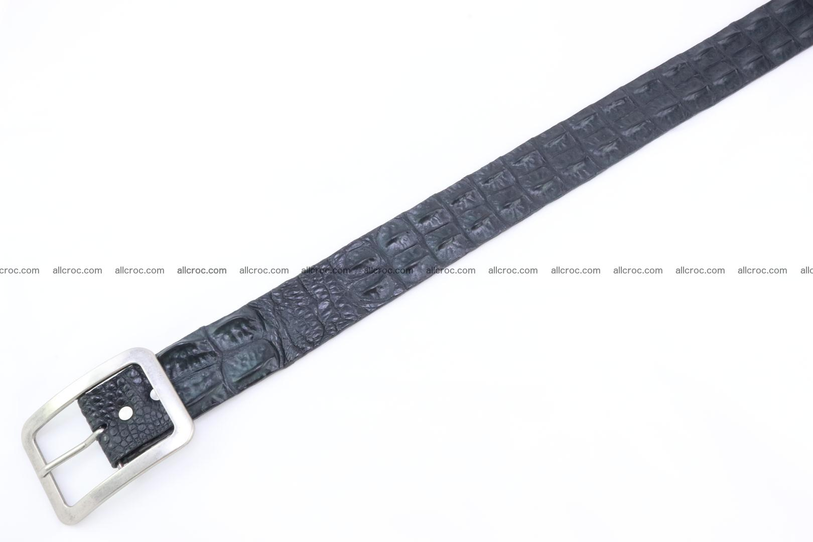 Genuine crocodile hornback belt for jeans width 50mm 156 Foto 5