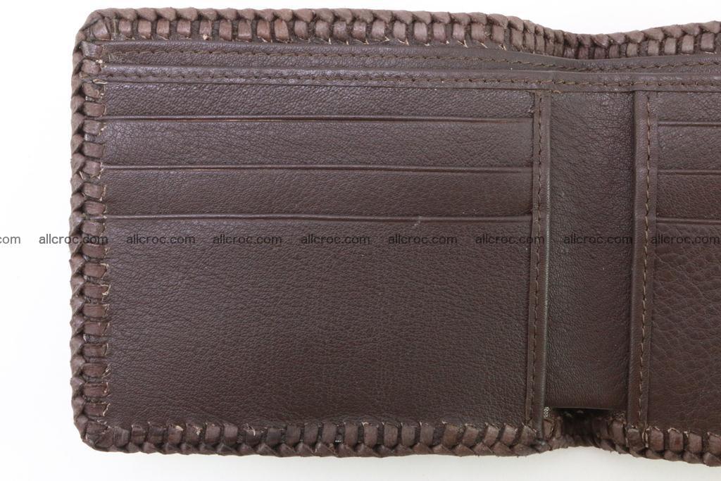 Genuine crocodile hornback wallet 116 Foto 7